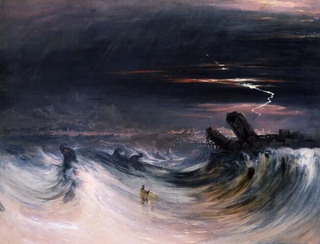 约翰·马丁 《推罗的毁灭》1840年作